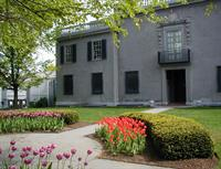 Hyde House in the spring