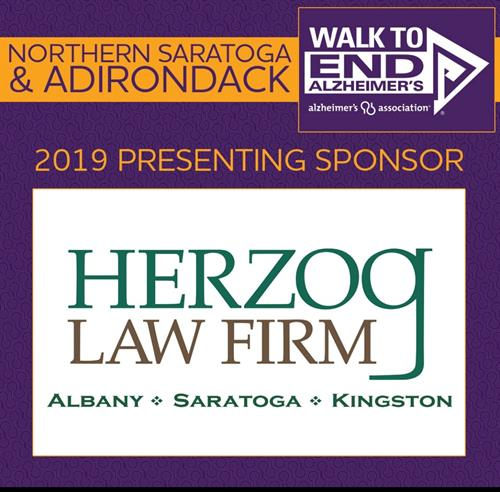 Proud to be a presenting sponsor of the Adirondack Walk to End Alzheimer's 2019