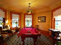 Billiards room at Union Gables