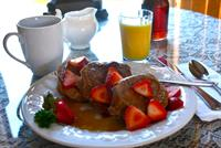 Breakfast prepared to order at Union Gables Inn