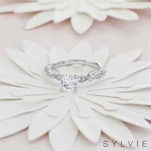 SYLVIE Diamond Engagement Ring available at N. Fox Jewelers