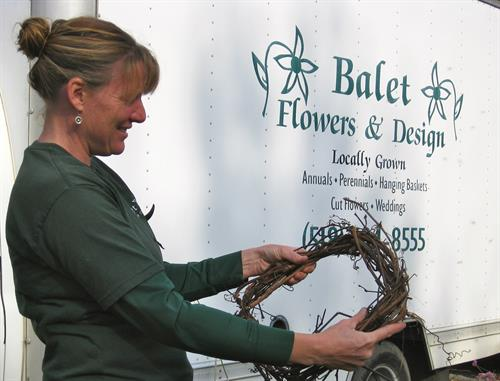 Owner Suzanne Balet Haight works with clients to plan their landscape and garden projects.