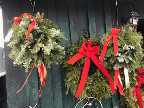 At the holidays, we make wreaths, swags, and other adornments for your home.