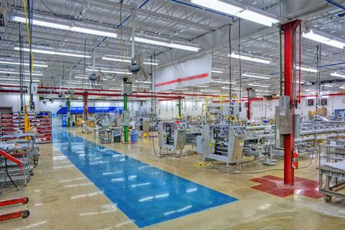 Epoxy factory flooring that is clean, safe, durable and beautiful by Performance Industrial.