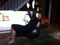 Stability ball balance with client Avon