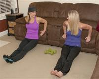 Living room dips with client Jen