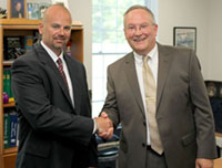 Jaeger & Flynn Associates, Inc., President and CEO Thomas F. Flynn, CLU, ChFC, at right, is pictured with Kurt W. Jaeger, RHU, ChHC, Executive Vice President & Chief Marketing Officer.
