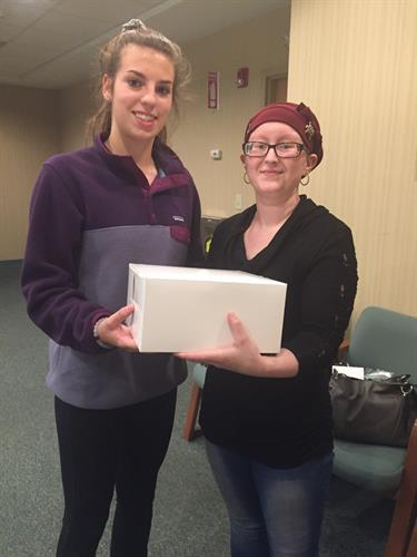 Delivering a end of treatment cake!