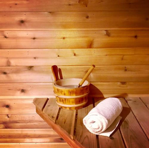 Sauna Available to Every Guest and Unlimited for Members
