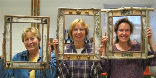 Birch Bark Picture Frames and Mirrors with Jim Schreiner. #1175-0714 ...