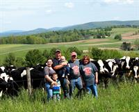 Cannon Cattle Ranch, Pittstown, NY. Owners Matt & Peggy Cannon with partner Andy Brizzel. The 392 acre Cannon Cattle Ranch was conserved in 2011.