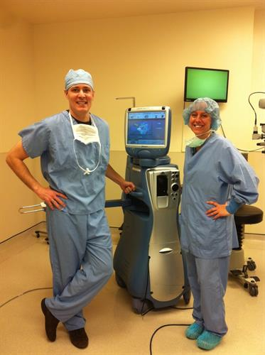 Dr. Zieker and the Catalys platform for laser-assisted cataract surgery.
