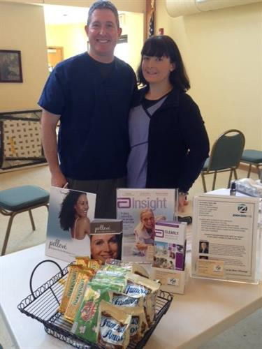 Complimentary eye screening at the Saratoga Senior Center.