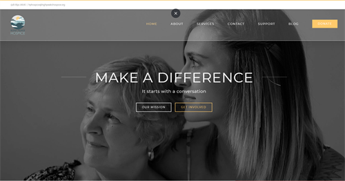 High Peaks Hospice Website