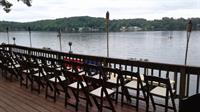 Setting up for the wedding on the deck