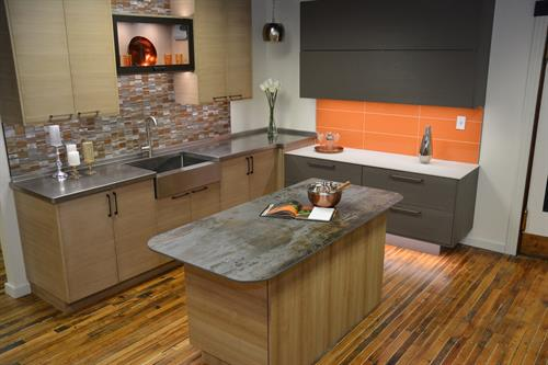 Visit our showroom to see the new technologies featured in this display