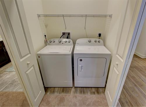 Full size washer and dryers in every apartment