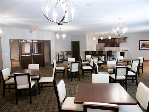 Hold small gatherings or events in our lounge.