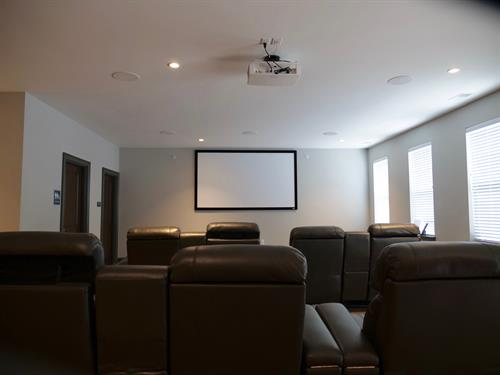 Watch your favorite movie in our Movie Theater.