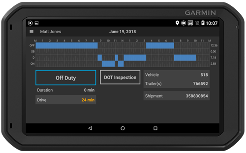 Tablet for ELD by Garmin