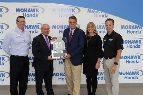 Paul Tonko visited our dealership 9-10-18, to Congratulate us on Platinum Evironmental Leadership Award