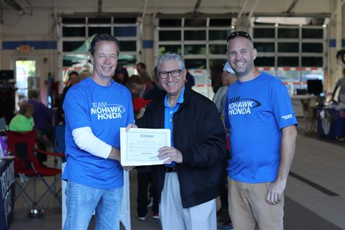 Senator Jim Tedisco gave us a citation of excellent community sponsorship and giving back to the community.