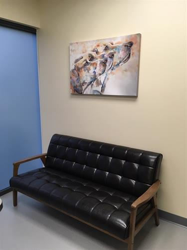 We want our clients to be as comfortable as our patients.