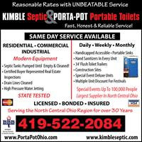Kimble Septic & Porta-Pot Inc - Mansfield