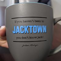 Only place that sells JackTown shirts and mugs!