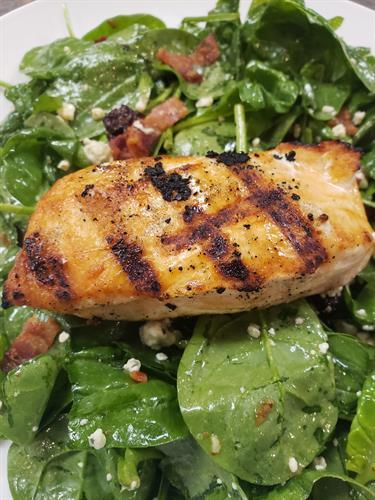 Spinach & Salmon Salad