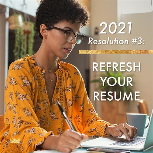 Is your resume reflective of your talent? Now is the time to re-write and re-think your professional brand.