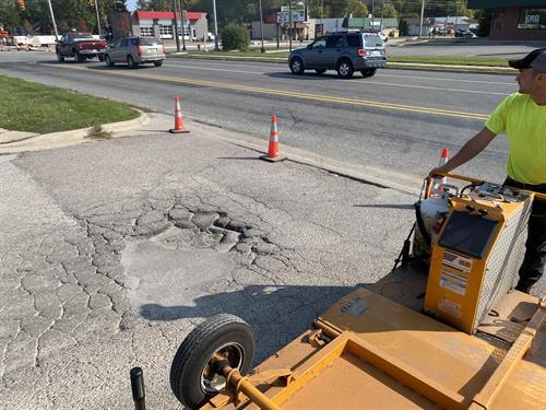 Pothole Repair - Before
