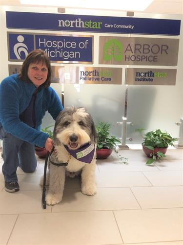 Anne and her dog Teddy are wonderful volunteers!