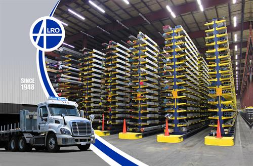 Alro Steel Inventory Racks and Truck