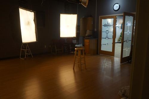 Our in-store studio is a comfortable place to for taking and making photos