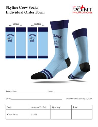Custom socks make great school sports swag