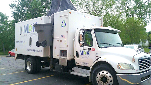 On-site shredding truck