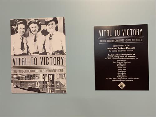 Vital to Victory Exhibit Aug. 15 to Nov. 21