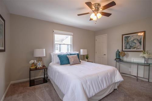Staged Master Bedroom by Just Staged
