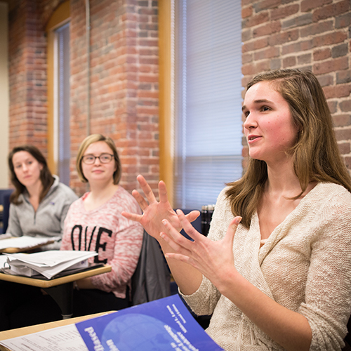 UNH Manchester's ASL/English itnerpreting program was the nation's first accredited interpreting program and is one of only 14 accredited programs in the country.