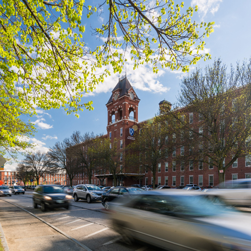 UNH Manchester is located in the bustling millyard, home to many businesses that hire our students for internships and jobs.