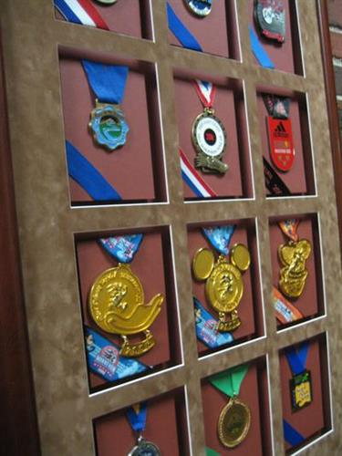 You've earned it....now display it!  (Framing Project: Marathon Medals)