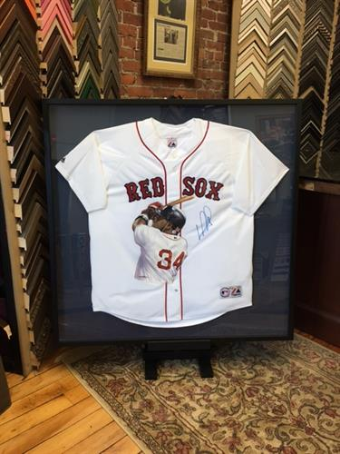 For the sports collector. (Framing Project: Ortiz autographed jersey)