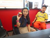 Arabella solved the Rubik's cube in about five minutes.