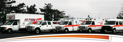 "Extensive fleet of ""MCI"" Mass casualty vehicles and equipment"
