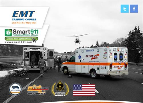 "Nationally Accredited by ""CAAS"" The Commission on Accreditation for Ambulance Services"
