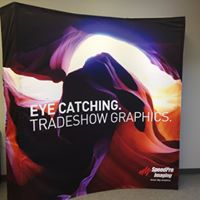 Lighted trade show display