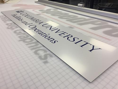 Columbia University signage