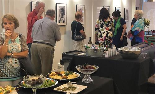 Food and Art mixed together highlights any business or social gathering at Jupiter Hall