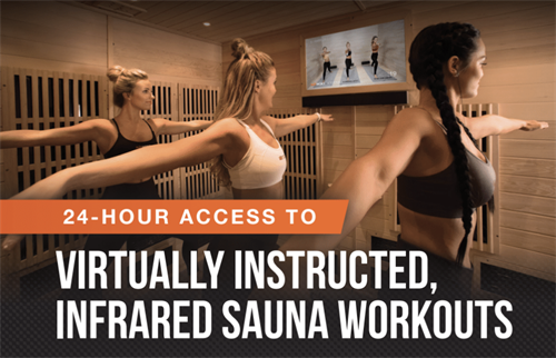24 Hour Access Infrared Sauna Fitness Studio